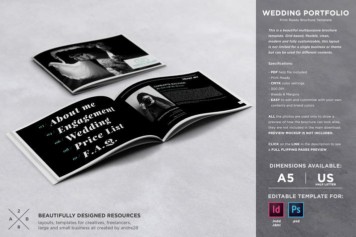 Thumbnail for Wedding Photography Portfolio Template