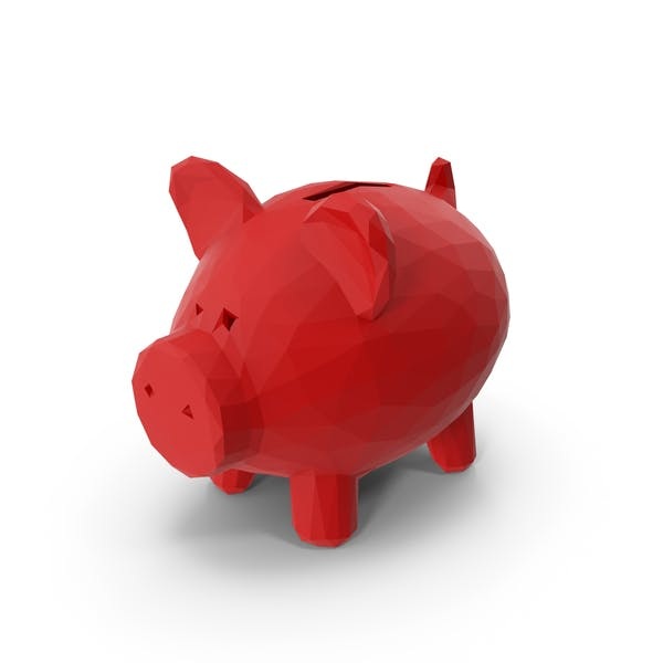 Low Poly Piggy Bank