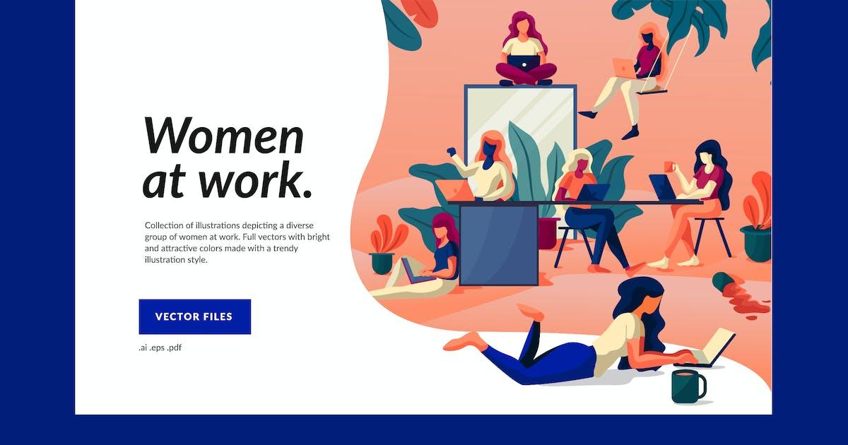 Download Working Women Illustration by amritpaldesign