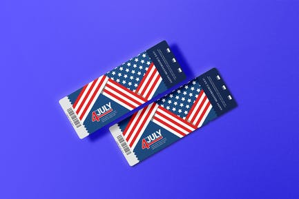 USA Fourth Of July - Ticket Design