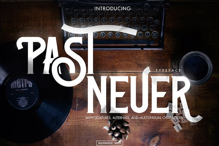 Thumbnail for Past-Neuer Typeface