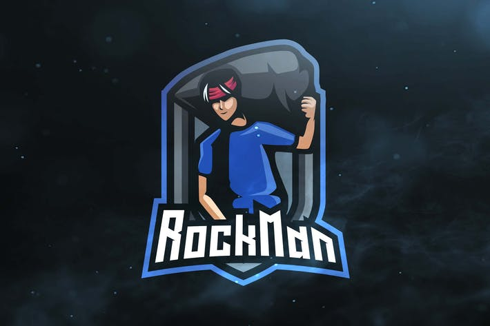 Thumbnail for Rock Man Sport and Esports Logos