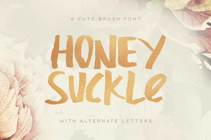 Thumbnail for Honeysuckle Typeface