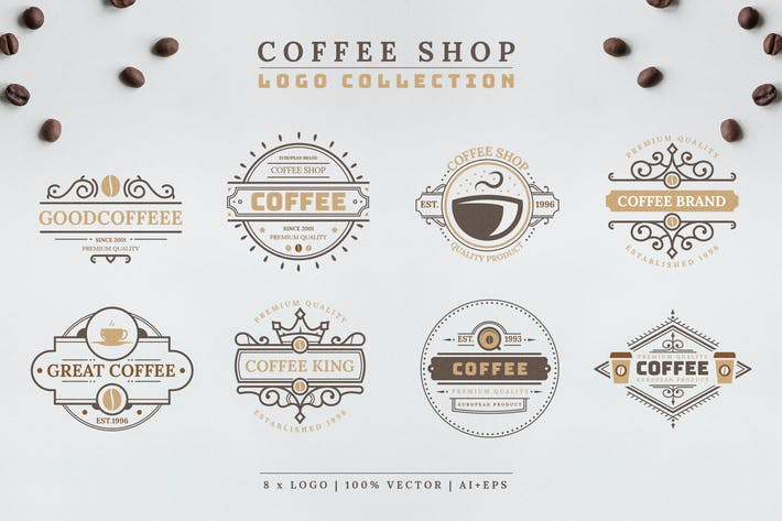 Cover Image For Coffee Logo Collection