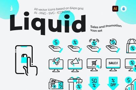 30 Sales and Promotion Icons