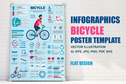 Bicycle Infographics Poster Template