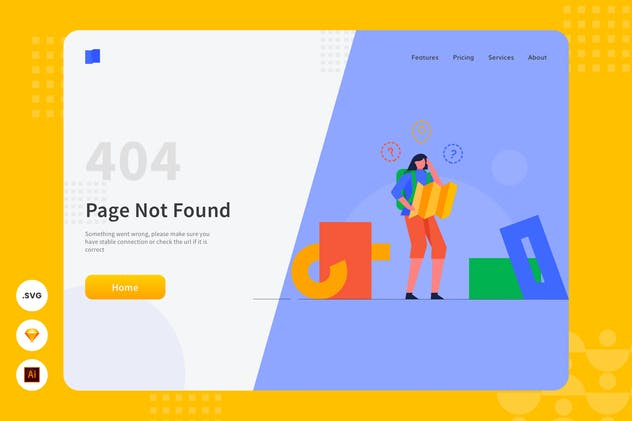 Page Not Found - Website Header - Illustration