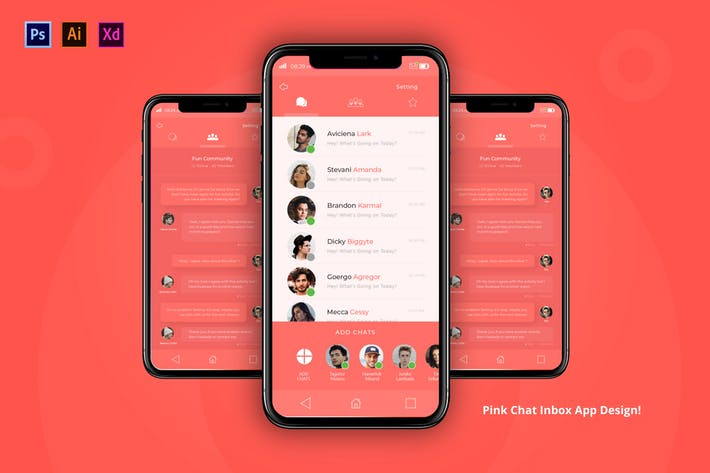 Thumbnail for Pink Chat App