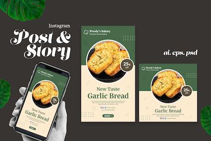 Garlic Bread Instagram Post Story