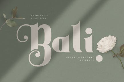 Bali - Elegante Con serifa decorativo