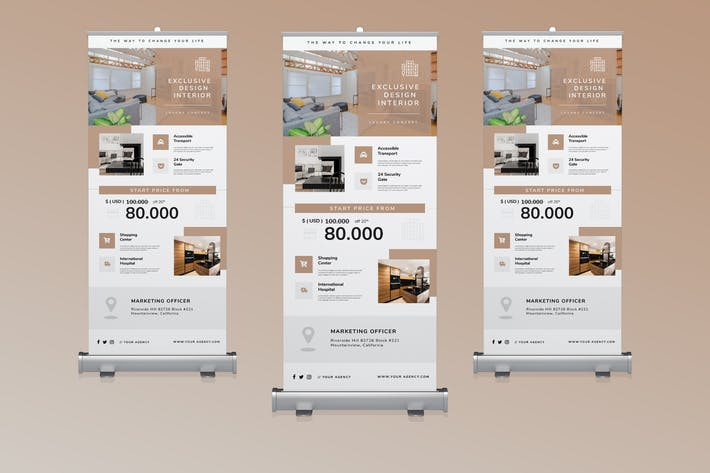 Thumbnail for Roll-up Banner For Real Estate Agency