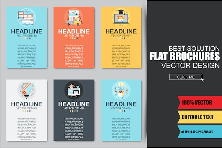 Thumbnail for Flat Business Brochure
