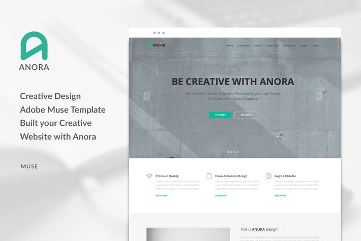 Anora multi purpose business muse template by pixasquare on envato cover image for anora multi purpose business muse template friedricerecipe Images