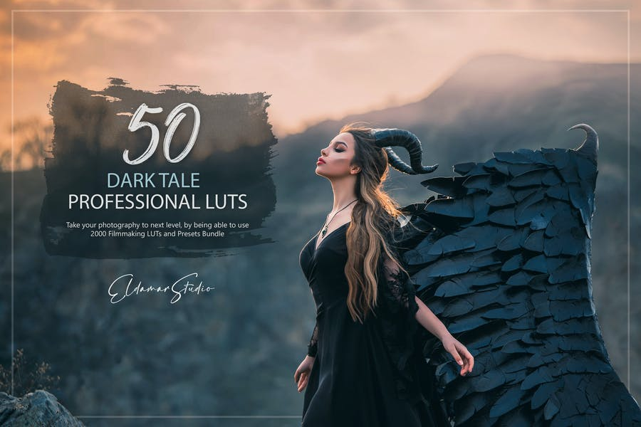 50 Dark Tale LUTs and Presets Pack
