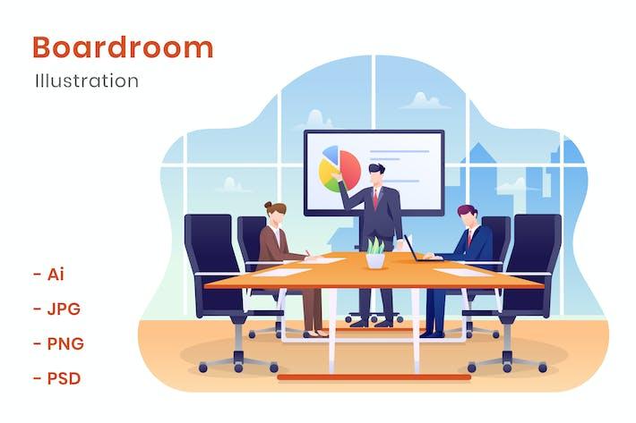 Thumbnail for Boardroom Illustration