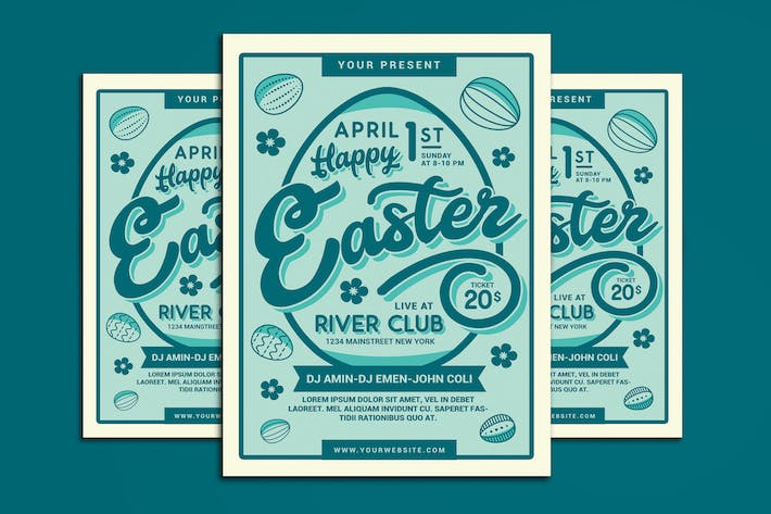 Thumbnail for Happy Easter Flyer