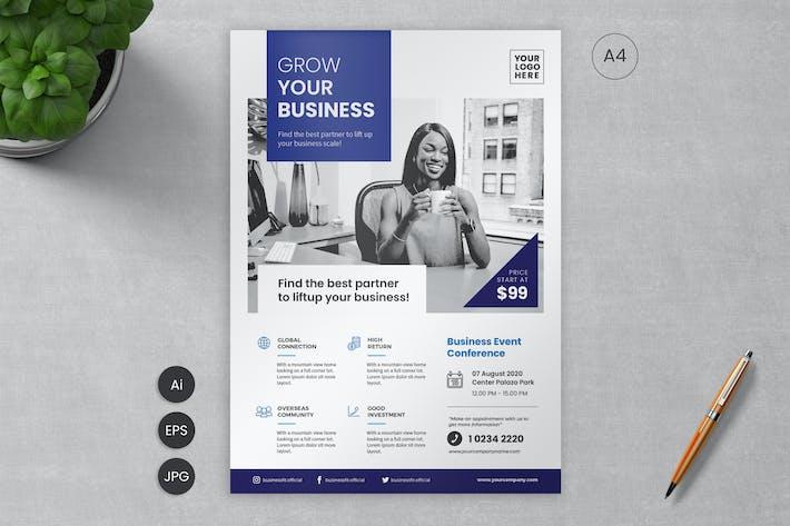 Thumbnail for Business Flyer Template 11 - Slidewerk