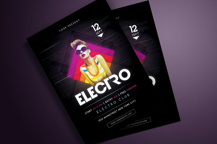 Thumbnail for Electro Party Flyer
