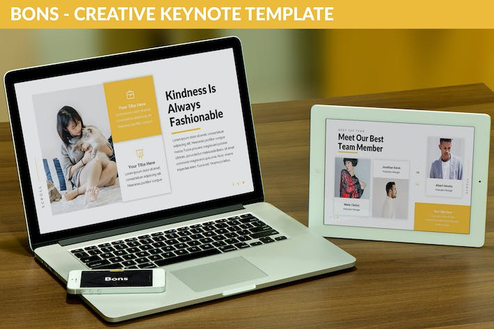 Thumbnail for Bons - Creative Keynote Template