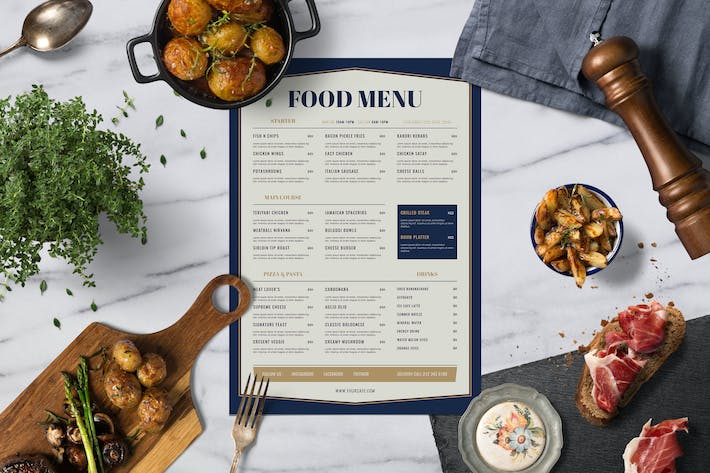 Thumbnail for Elegant Food Menu