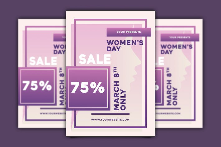 Thumbnail for Women's Day Sale Flyer