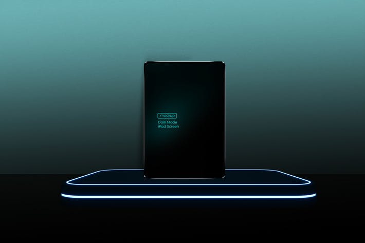 Dark Mode iPad Mockup
