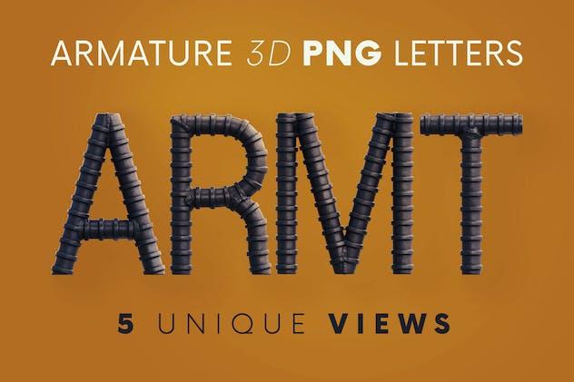 Armature Industrial - 3D Lettering
