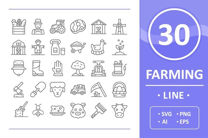 Thumbnail for 30 Farming Icons - Line