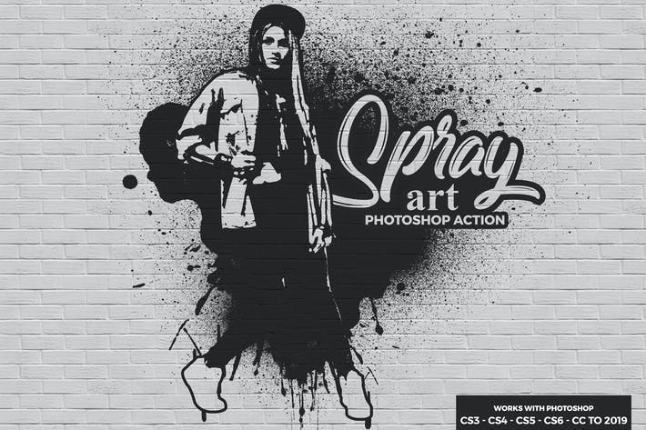Thumbnail for Spray Art Photoshop Action