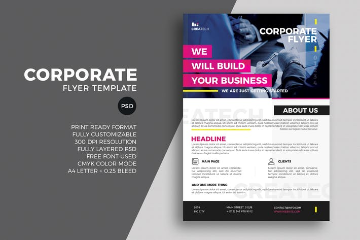 thumbnail for corporate flyer template - Brochure Templates Envato