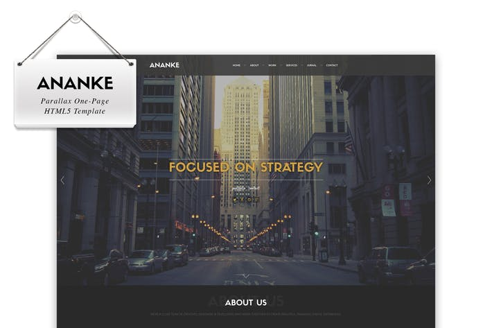 Thumbnail for Ananke - Modèle HTML Parallax One Page