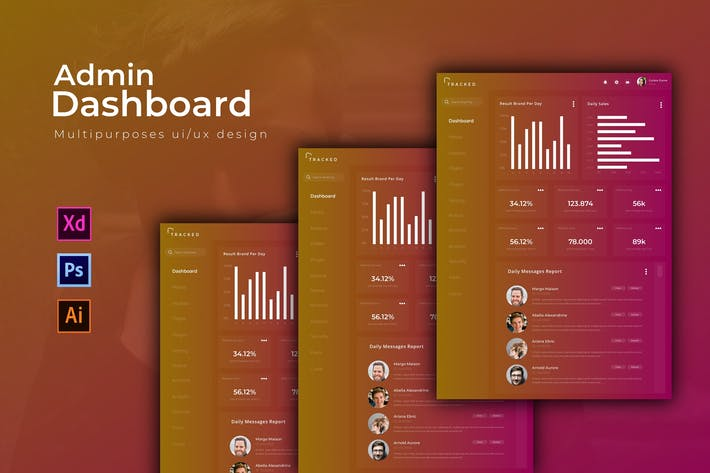 Thumbnail for Tracked Dashboard | Admin Template