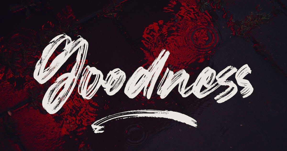 Download Goodness - Handwritten Brush Font by arendxstudio