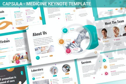 Capsula - Medicine Keynote Template