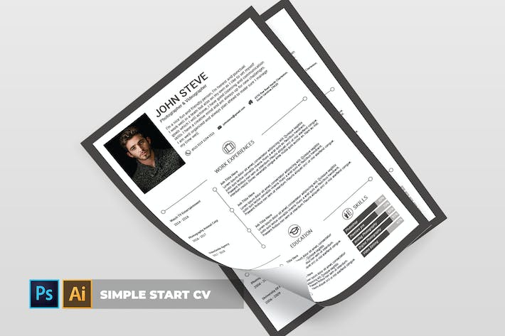 Thumbnail for Simple Start | CV & Resume