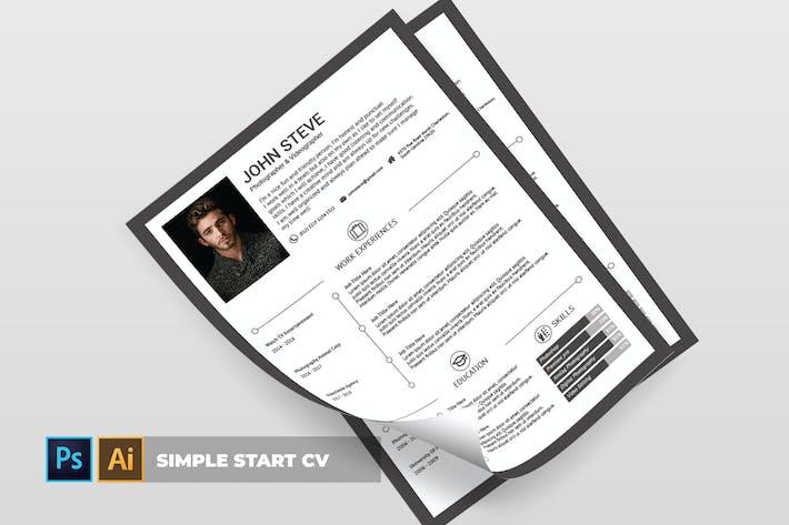 Cover Image For Simple Start | CV & Resume