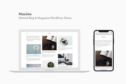 Maxima - Minimal Blog & Magazine WordPress Thema