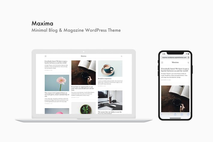 Thumbnail for Maxima - Minimal Blog & Magazine WordPress Theme