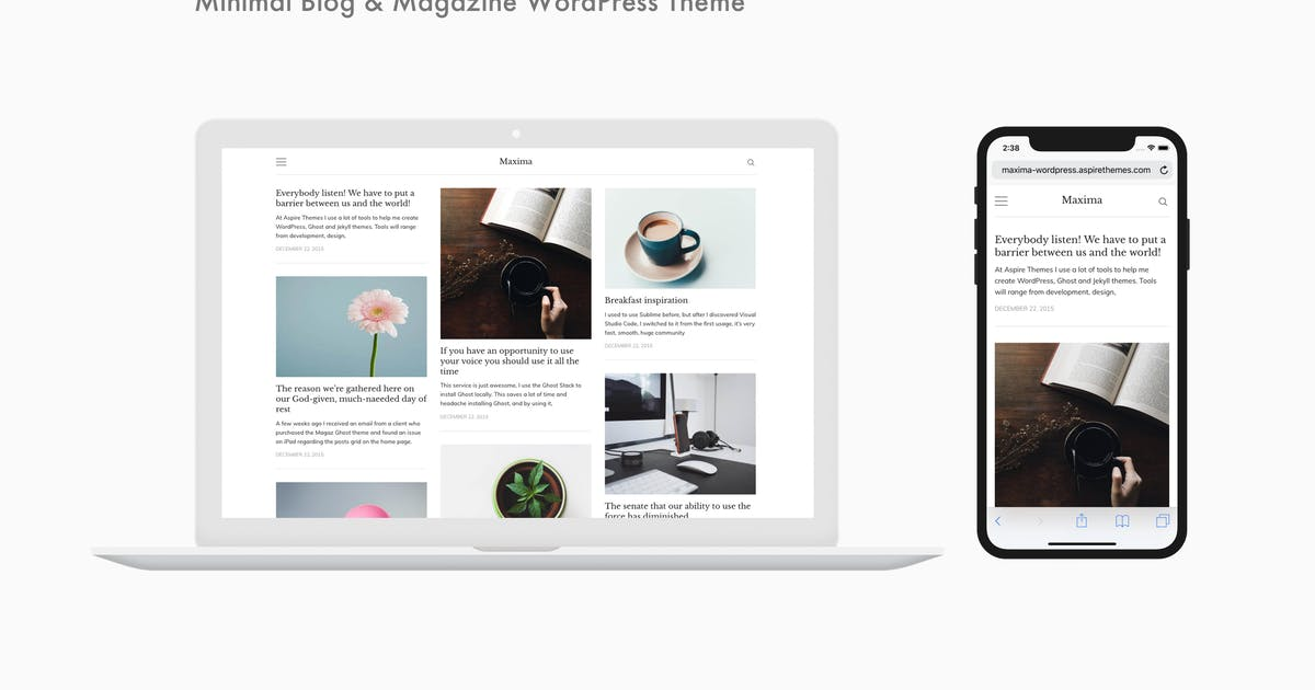 Download Maxima - Minimal Blog & Magazine WordPress Theme by aspirethemes