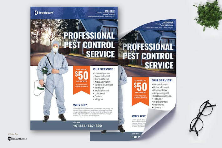 Thumbnail for Safe Pest Control - Service Poster RB