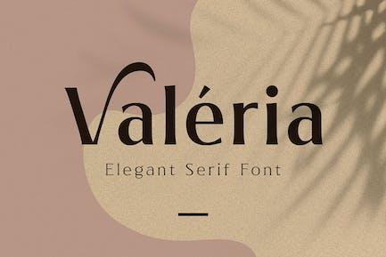 Valeria - Elegante Con serifa
