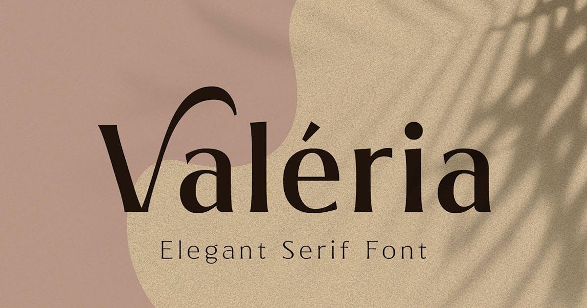 Download Valeria - Elegant Serif by Ramzehhh