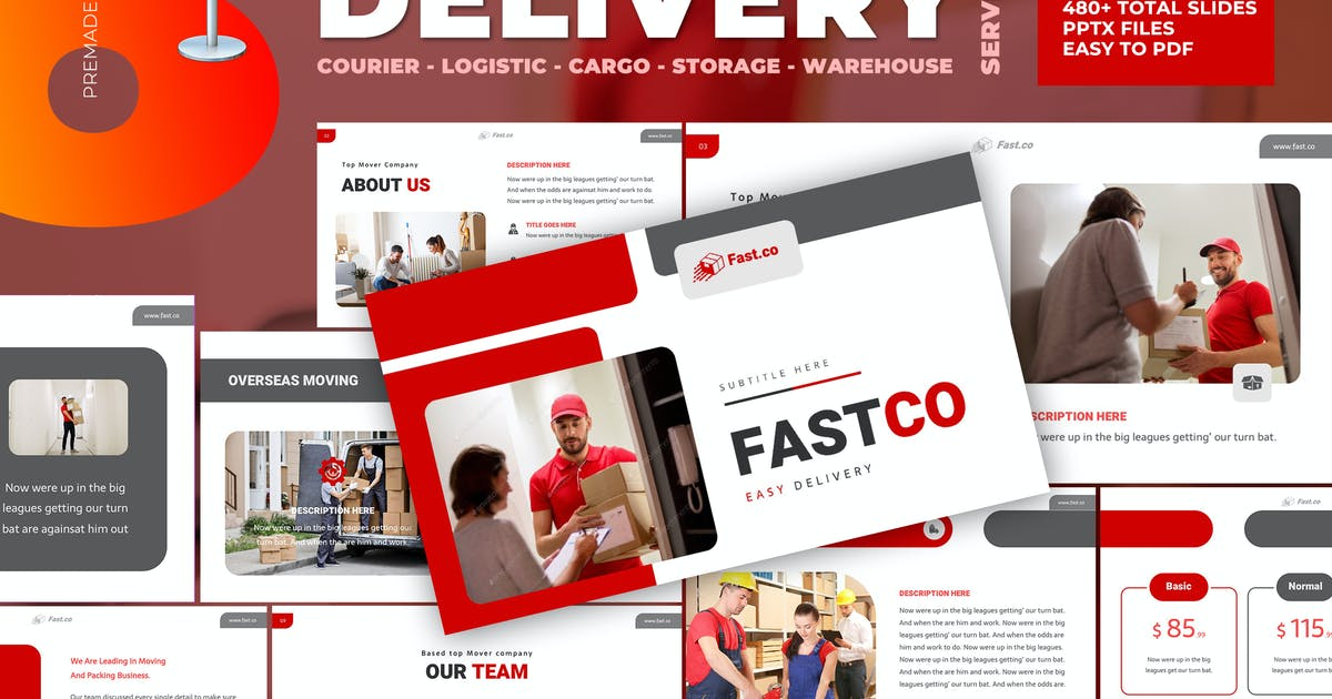 Download Delivery Courier Keynote Template by afahmy
