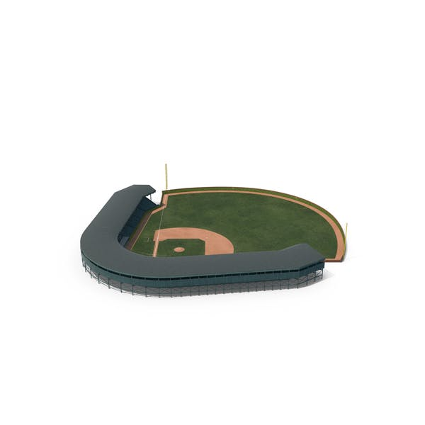 Thumbnail for Бейсбольное поле с трибуной Кирпичная стена изогнутая с плющом