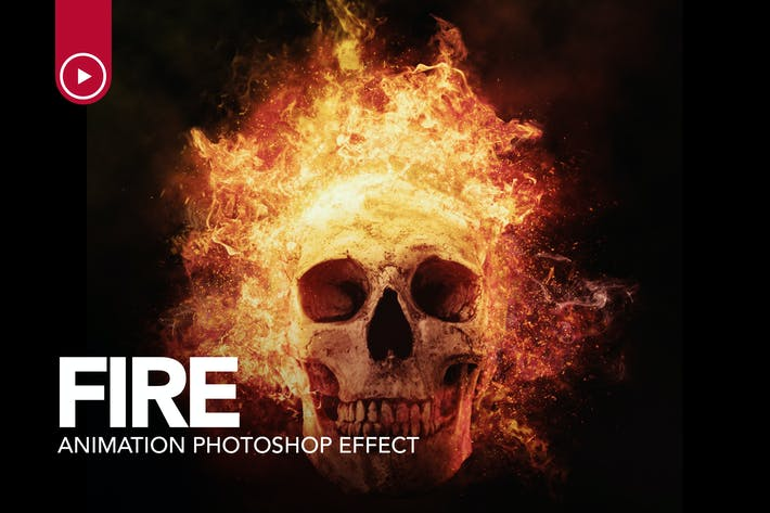 Thumbnail for Action Photoshop d'animation de feu