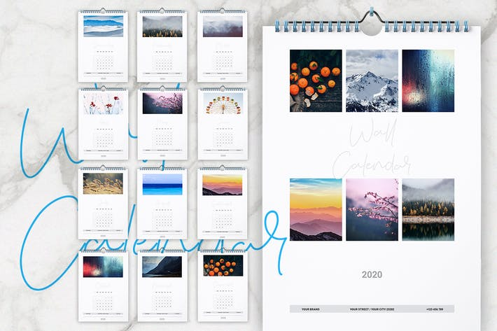 Wall Calendar 2020 Layout