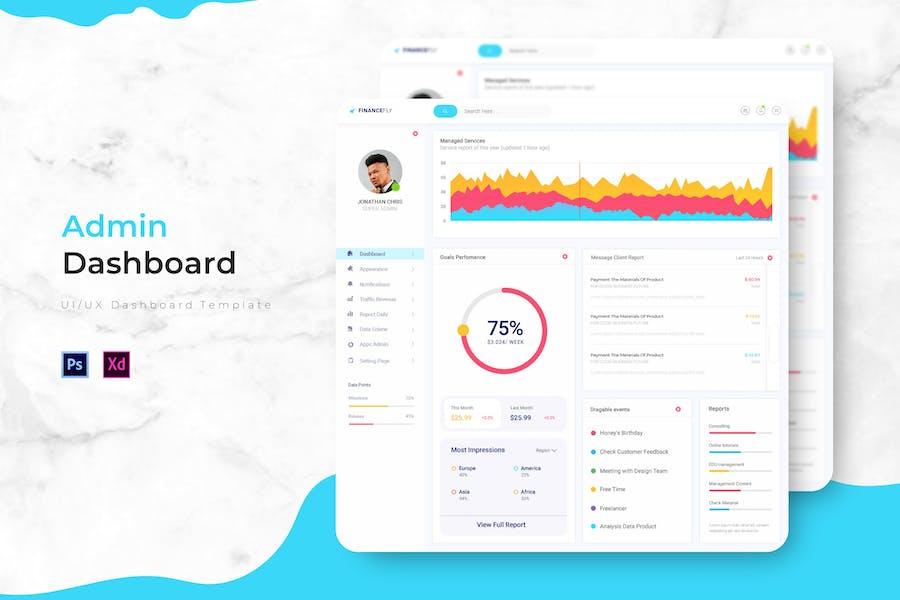 Finance Fly Dashboard | Admin Template