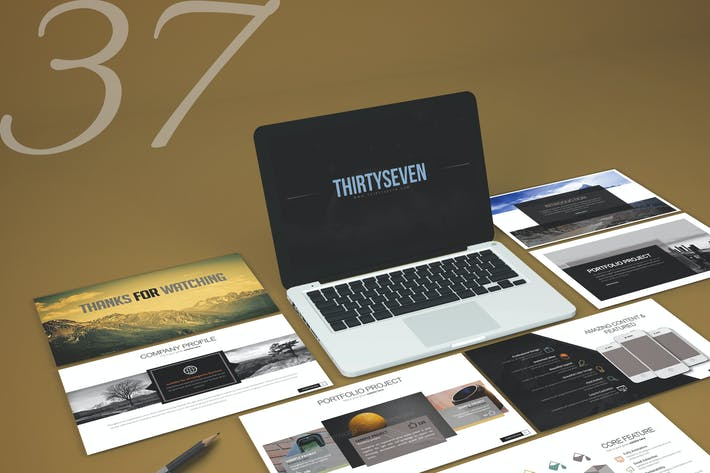 Thumbnail for Three Seven - Powerpoint Template