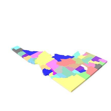 Карта округов Айдахо