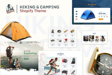 Hikez | Пешие прогулки и походы Shopify Тема